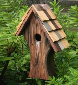 Knottingham Cypress Birdhouse with Shingled Roof