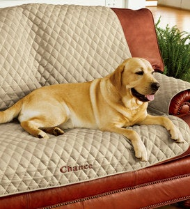 Personalized Pet Loveseat Cover - Blue
