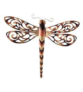 Large Metal Dragonfly Wall Art