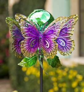 Butterfly Spinner with Mercury Glass Orb