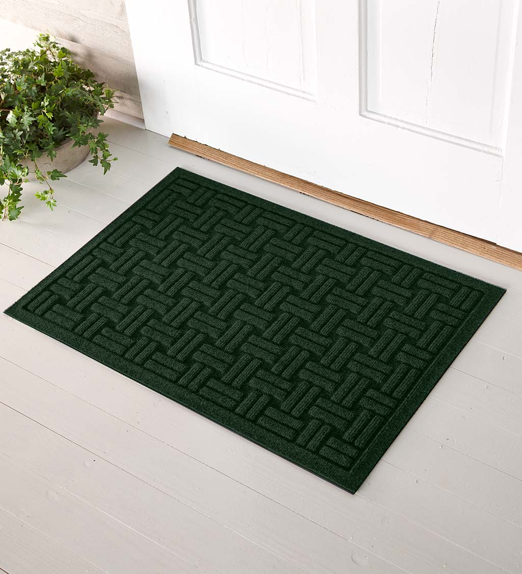 Waterhog Basket Weave Doormat, 2' x 3' - Green