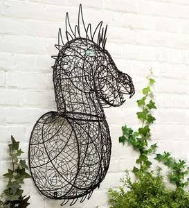 Wire Dragon Head Wall Art