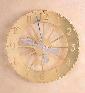 Solid Brass Jeffersonian Wall Clock