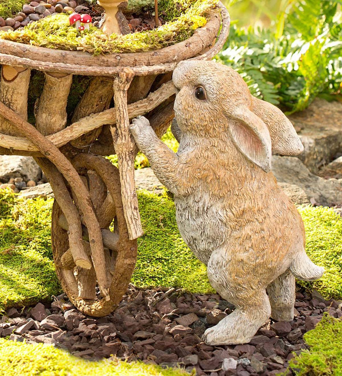 Standing Rabbit Garden Statue