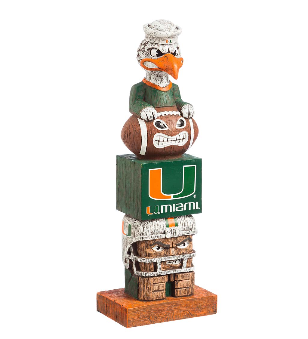 Indoor/Outdoor College Team Pride Totem Garden Statue - Univ of Miami