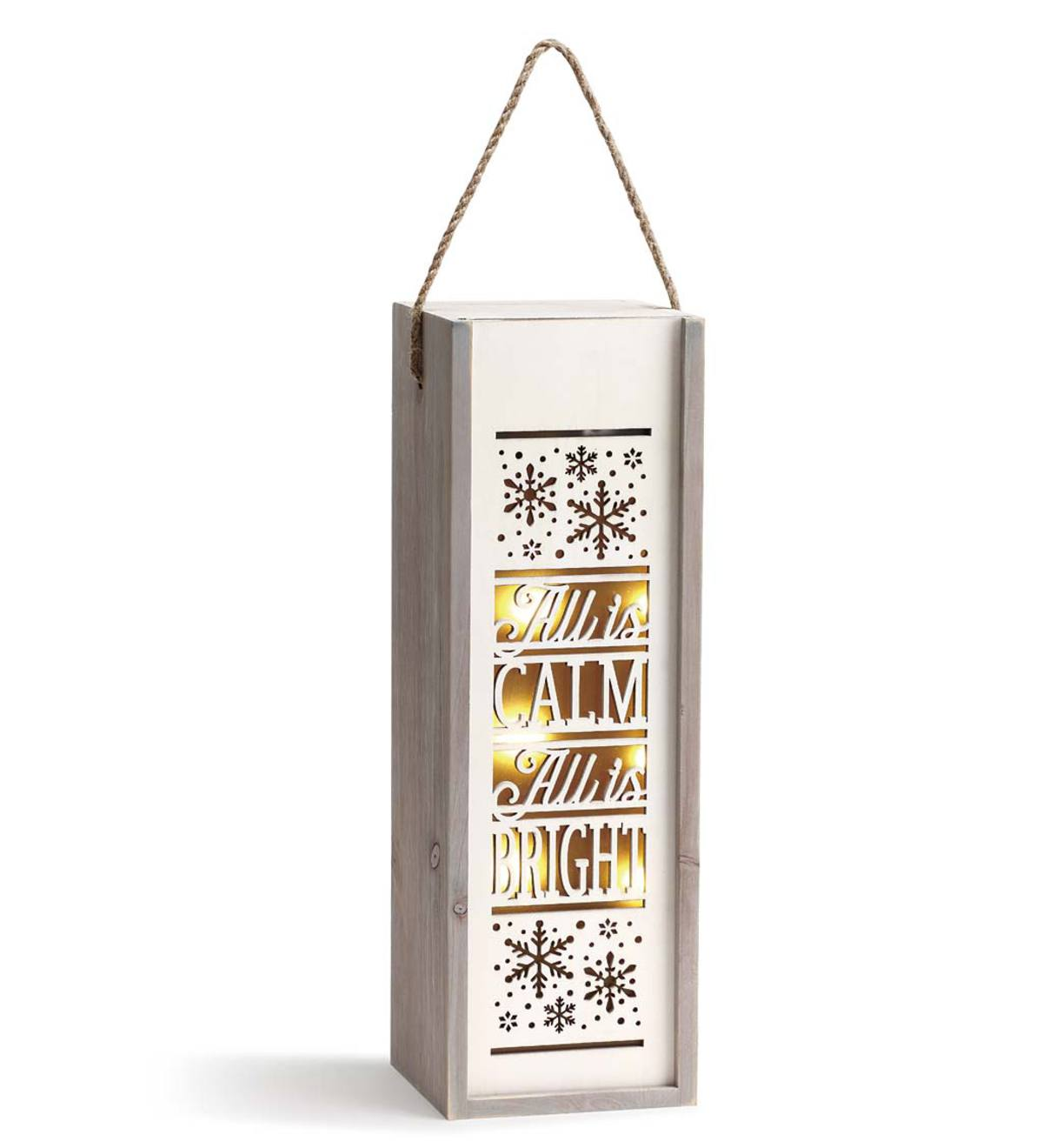 Festive Box Lantern - All is Bright