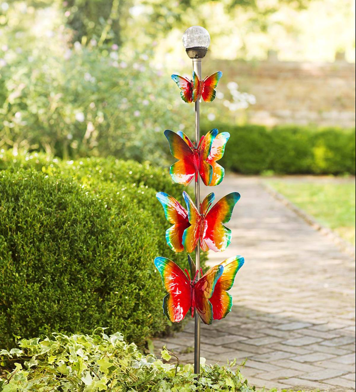 4-Tier Solar Butterfly Spinner