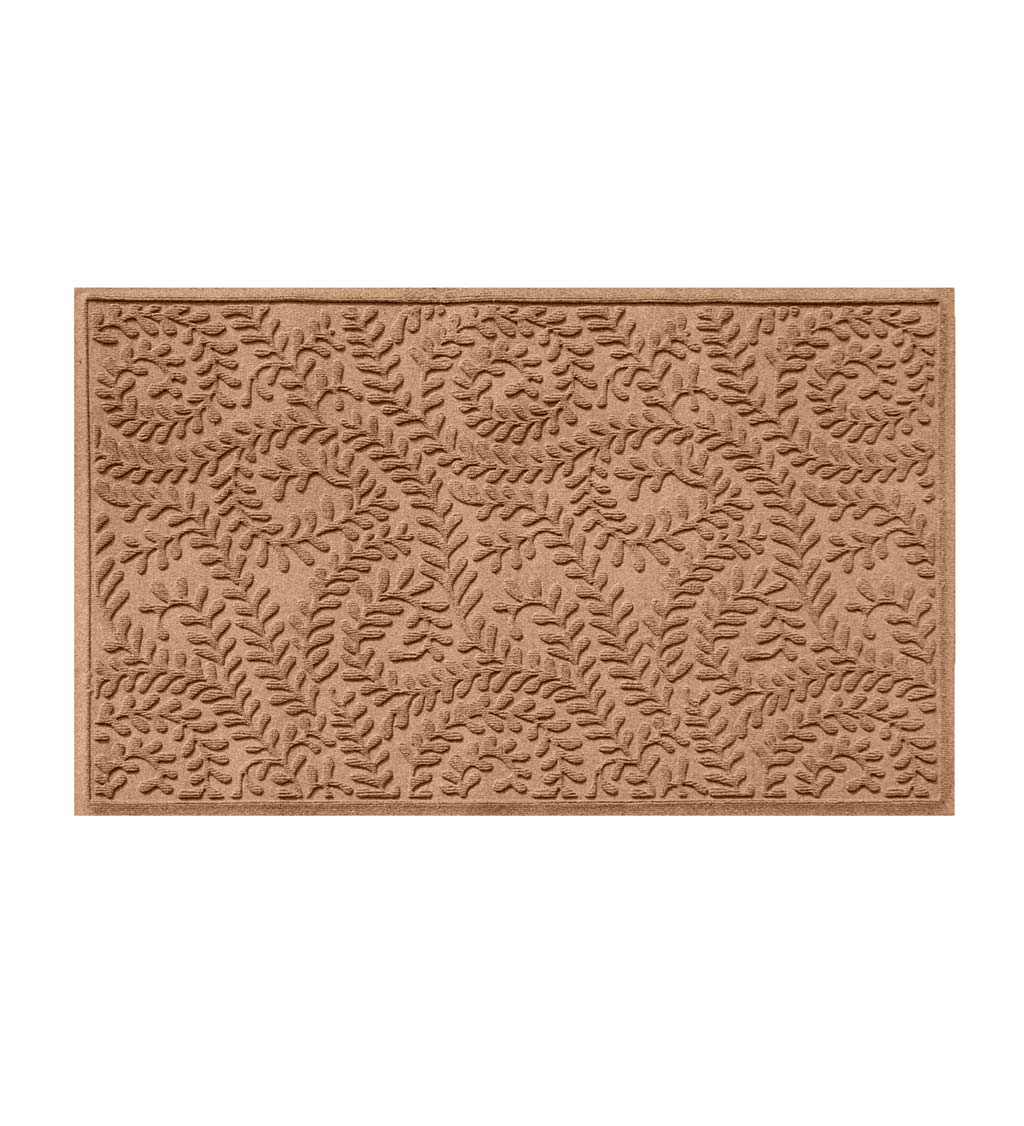 Waterhog Indoor/Outdoor Leaves Doormat, 2' x 3' - Camel