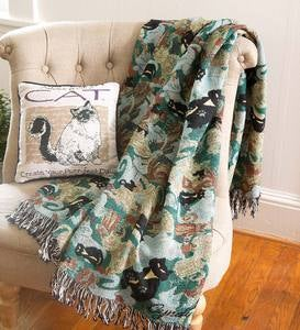Camouflage Cat Throw Blanket