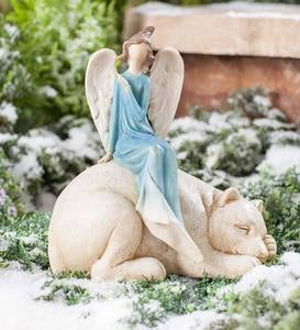 Angel on Polar Bear Statue