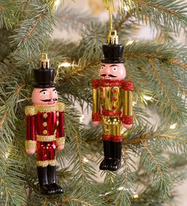 Nutcracker Ornaments, Set of 2