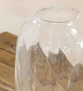 Glass Vase with Rice Lights
