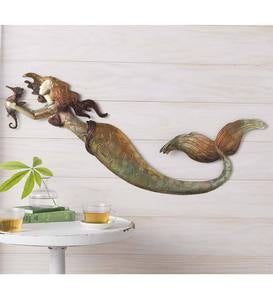 Metal Mermaid Wall Art