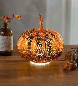 Glowing Stargazing Mercury Glass Pumpkin