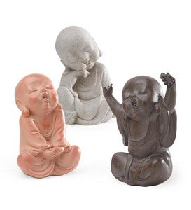 Baby Buddha Sculptures, Set of 3