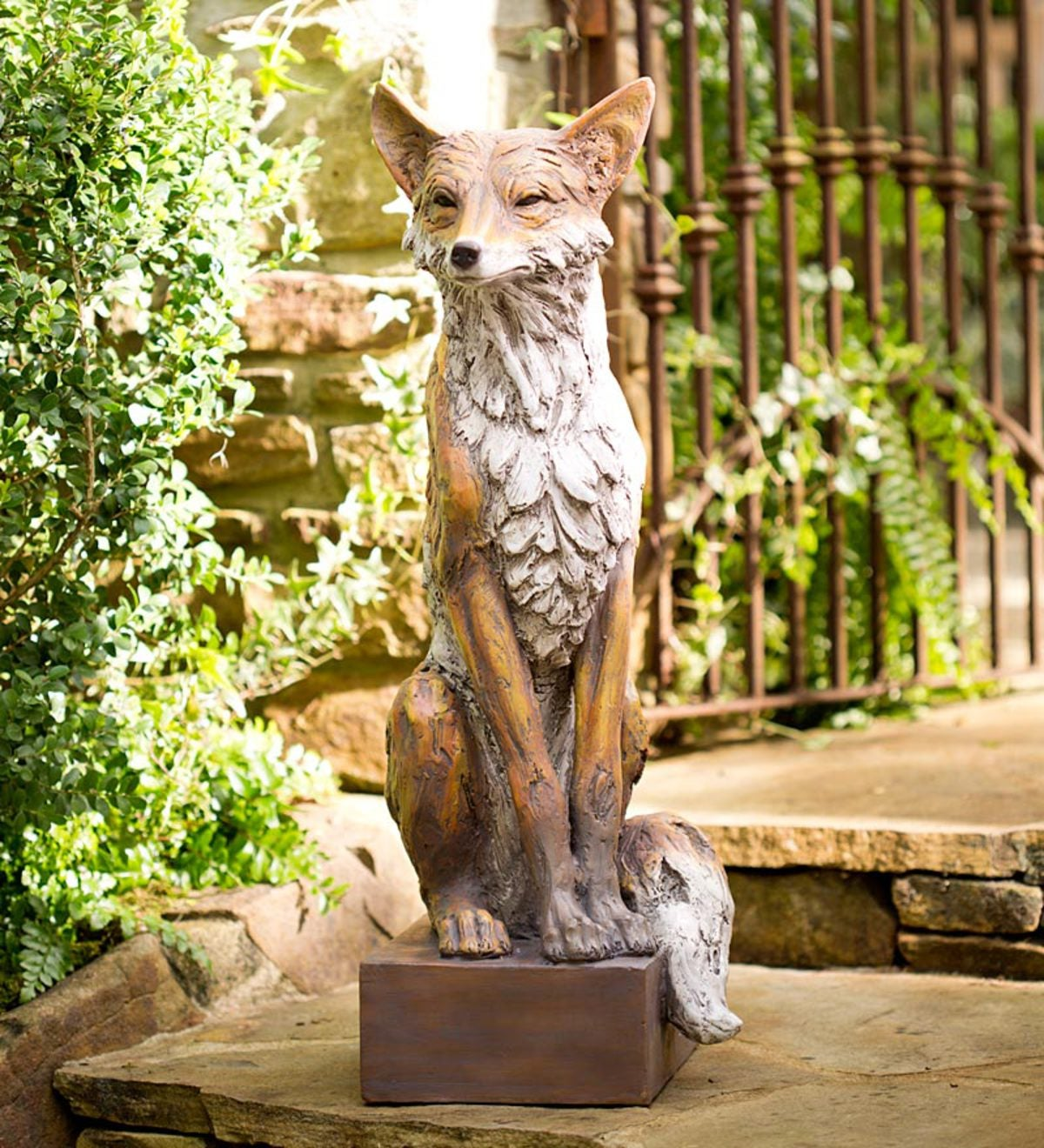 Lifesize Noble Fox Garden Statue Wind And Weather