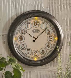 "18"" Indoor/Outdoor Lighted Wall Clock"