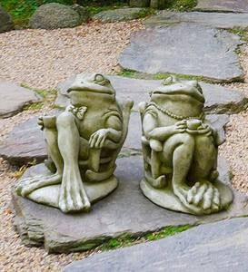USA-Made Cast Stone Frog Garden Statues