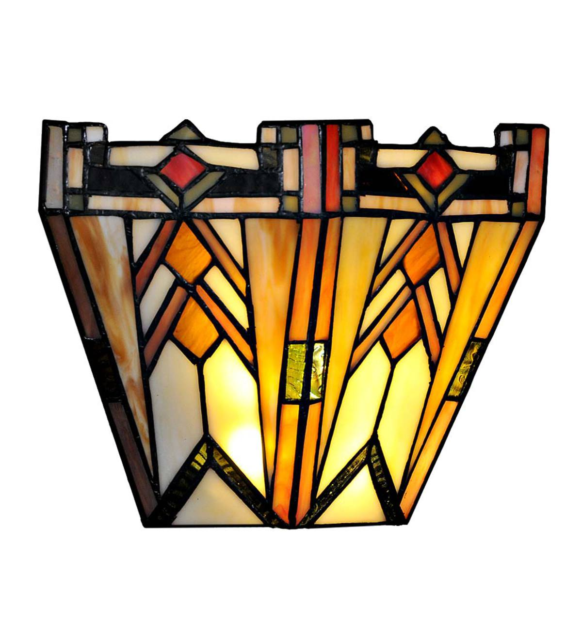 Mission-Style Stained Glass Wall Sconce | Wind and Weather