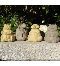 Meditating Animals, set of 4