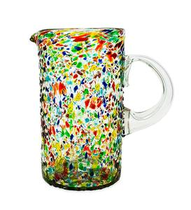 Handcrafted Recycled Glass Confetti Pitcher