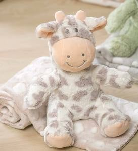 Cuddly Giraffe Stuffed Animal with Blanket Gift Set, Gray