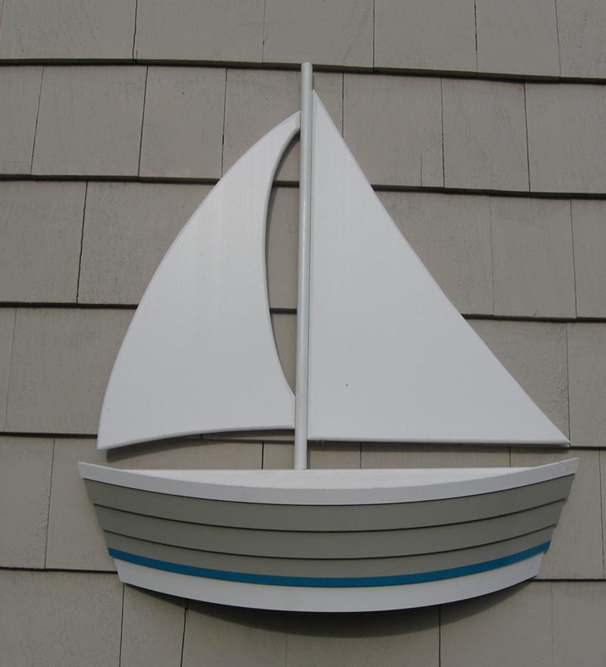 Cape Cod Sailboat Flowerpot Planter