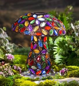 Colorful Solar Lighted Mushroom