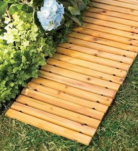 6' Portable Roll-Out Straight Hardwood Pathway