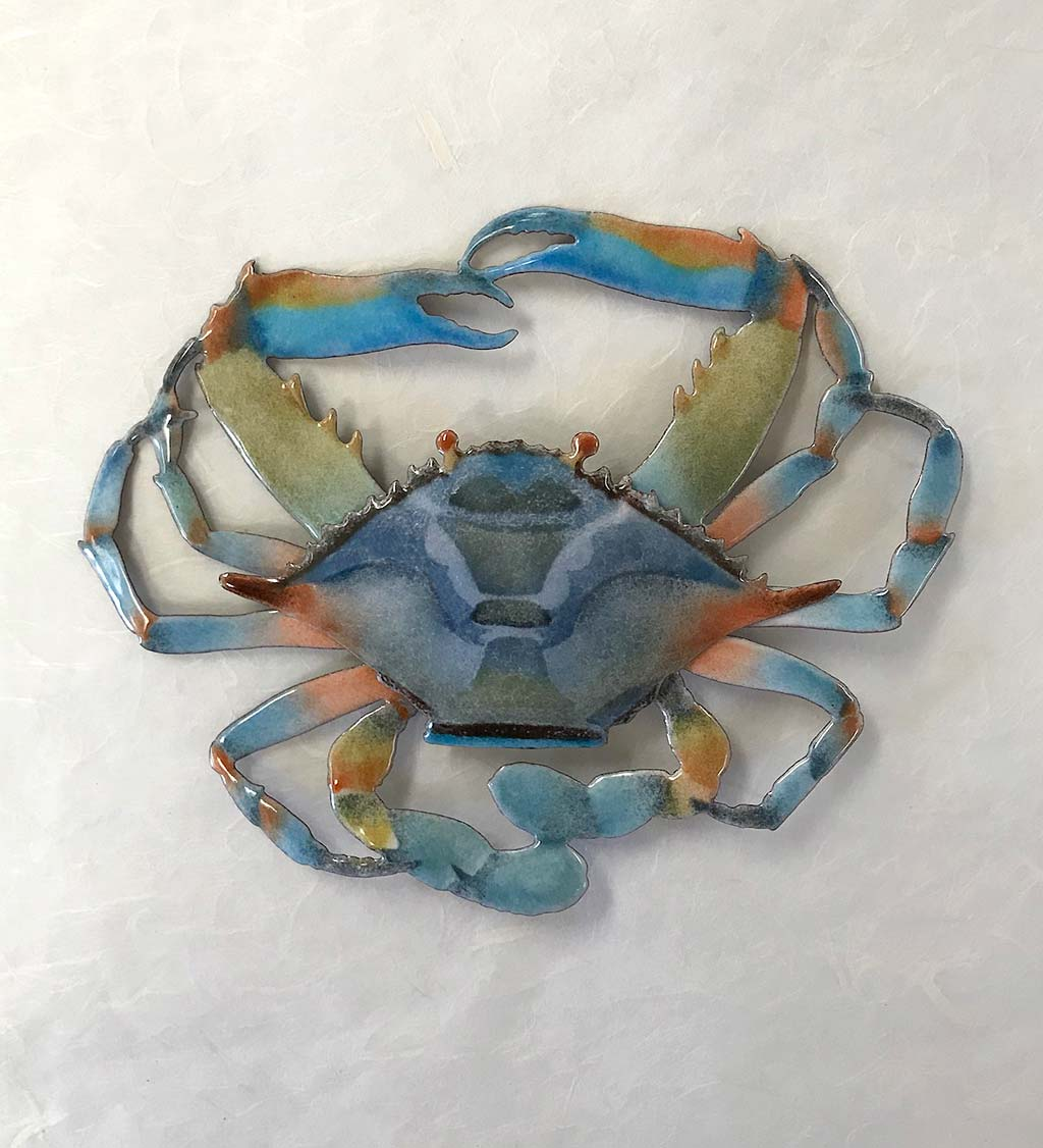 Handcrafted Blue Crab Wall Art by Bovano