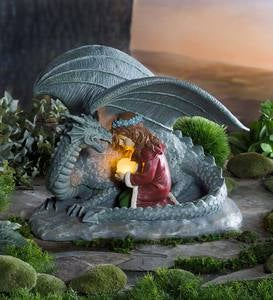 Dragon and Maiden Sculpture