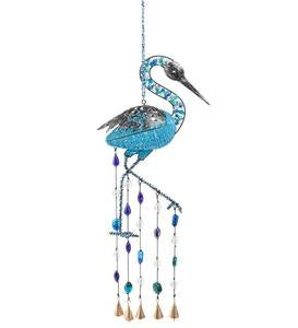 Beaded Heron Wind Chime