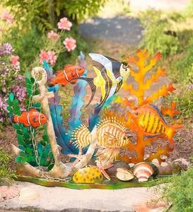 Handcrafted Colorful Metal Ocean Floor Diorama