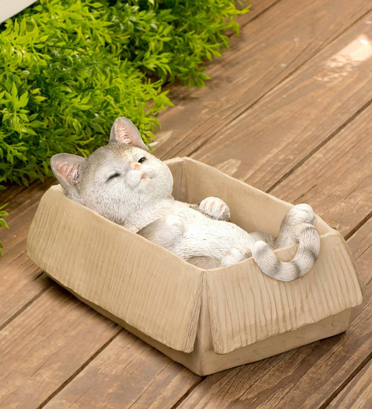 Resin Cats in Cardboard Boxes  - Free 2 Day Delivery - Gray