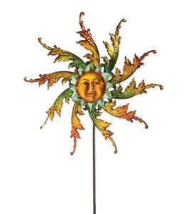Midsummer Sun Face Metal Wind Spinner
