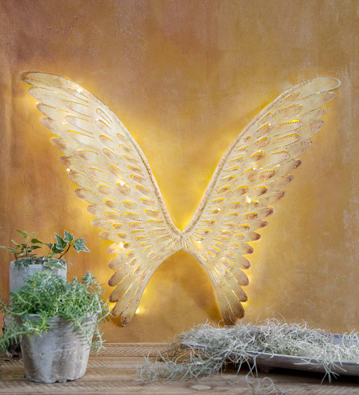 Lighted Angel Wings | Wind and Weather