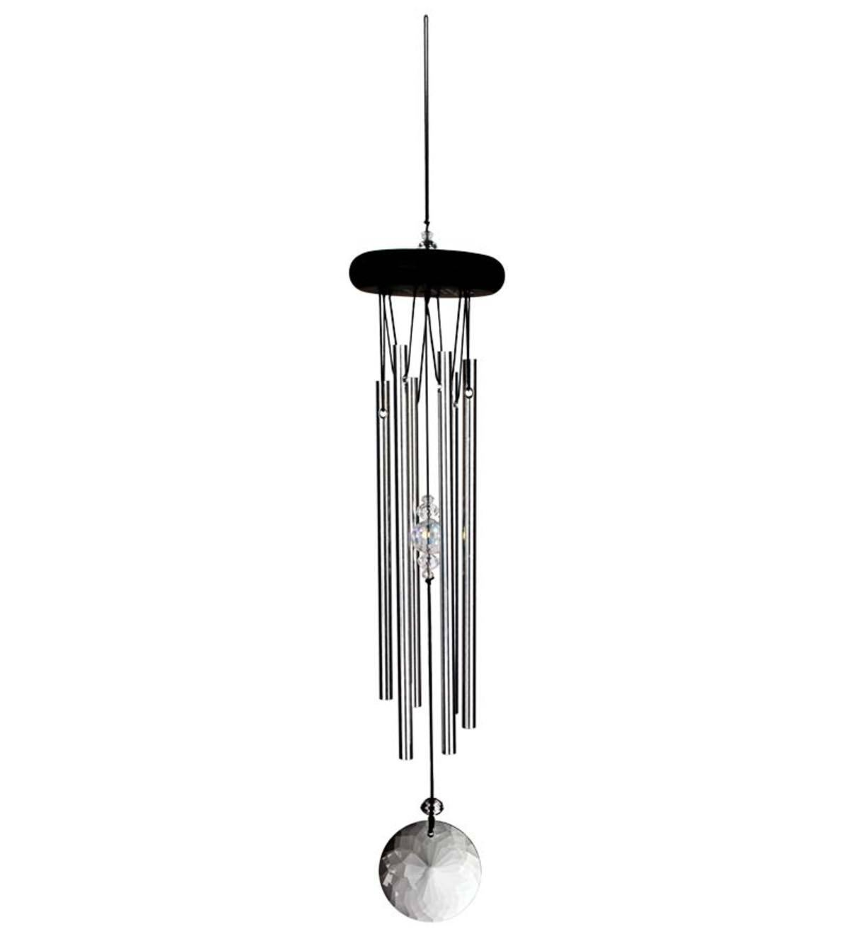 Meditation Wind Chimes with Crystal Accents