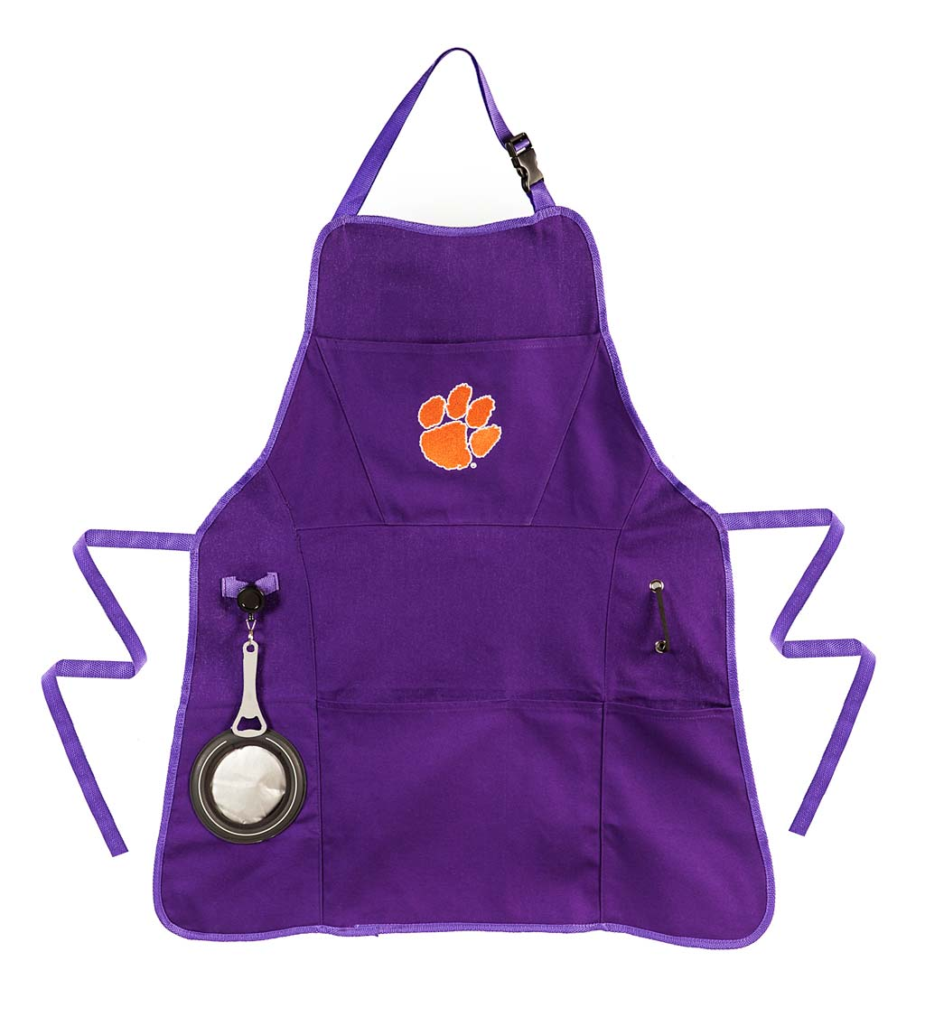 Deluxe Cotton Canvas College Team Pride Grilling/Cooking Apron - Clemson
