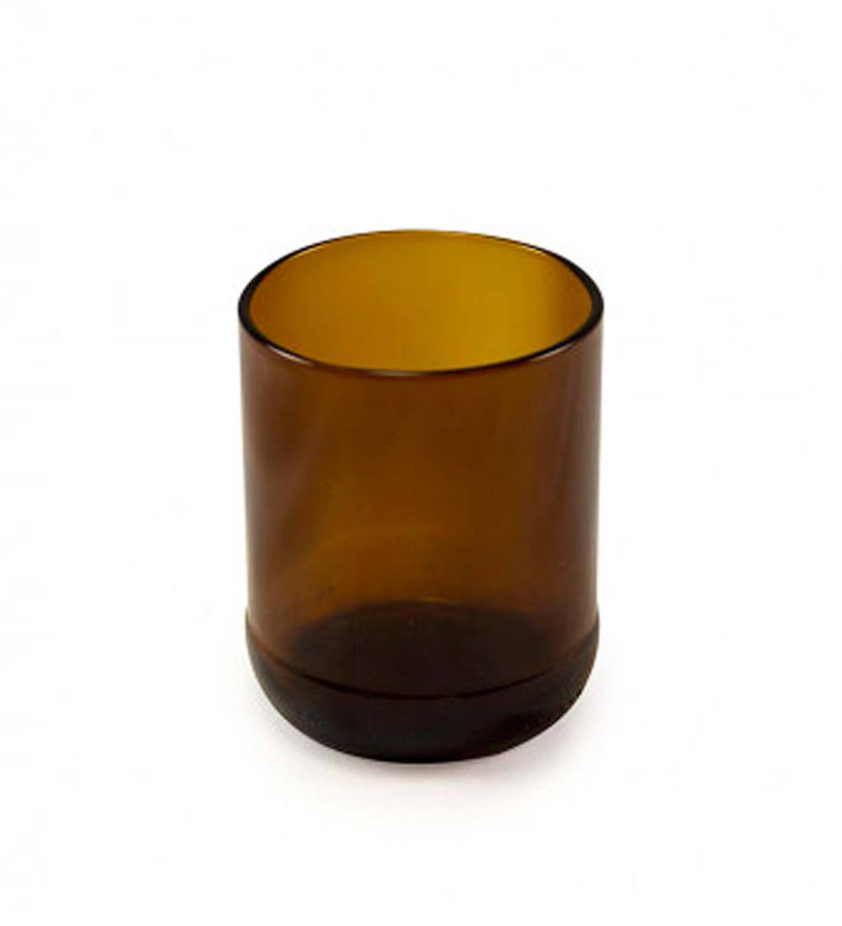 Recycled Amber Glass Votive
