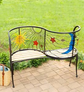 Sun and Moon Conversation Bench