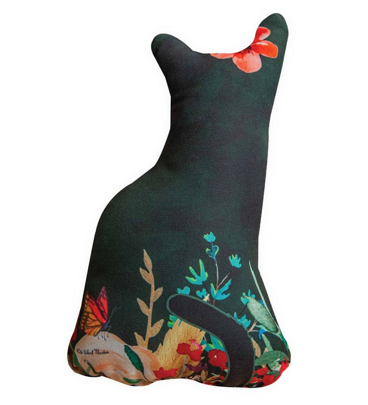 Cat-Shaped Decorative Pillow - Green