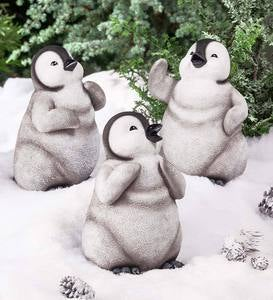 Baby Penguin Figurines, Set of 3