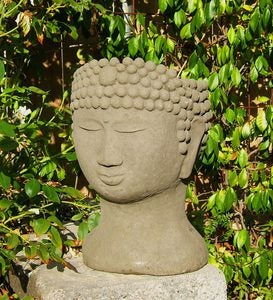 Cast Stone Buddha Head Planter