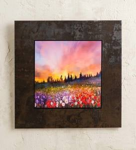 Field of Flowers on Porcelain Tile Wall Art