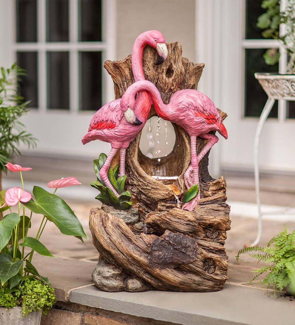 Indoor/Outdoor Flamingo Fountain