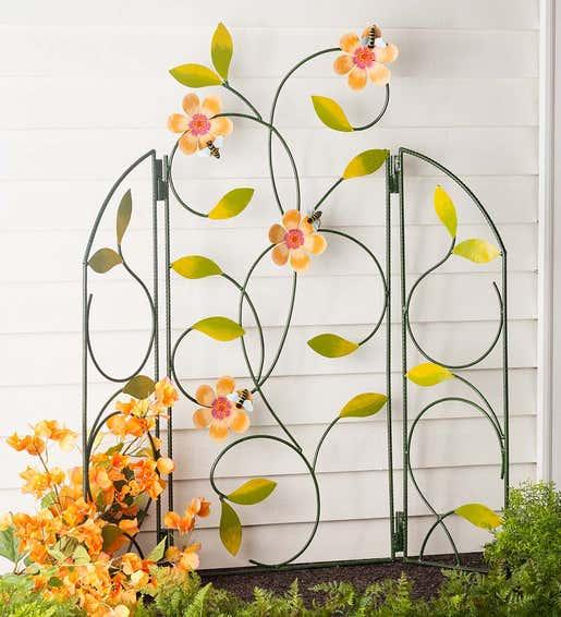 Three-Panel Flower Petal Trellis. Garden Trellises & Arbors