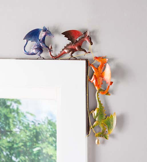 Image of a colorful dragons door frame crawler. Shop Gifts Under $30