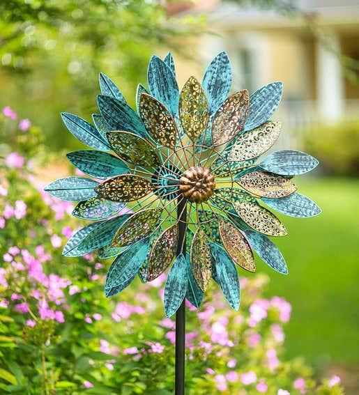 Metal Speckled Filigreed Spinner. Wind Spinners