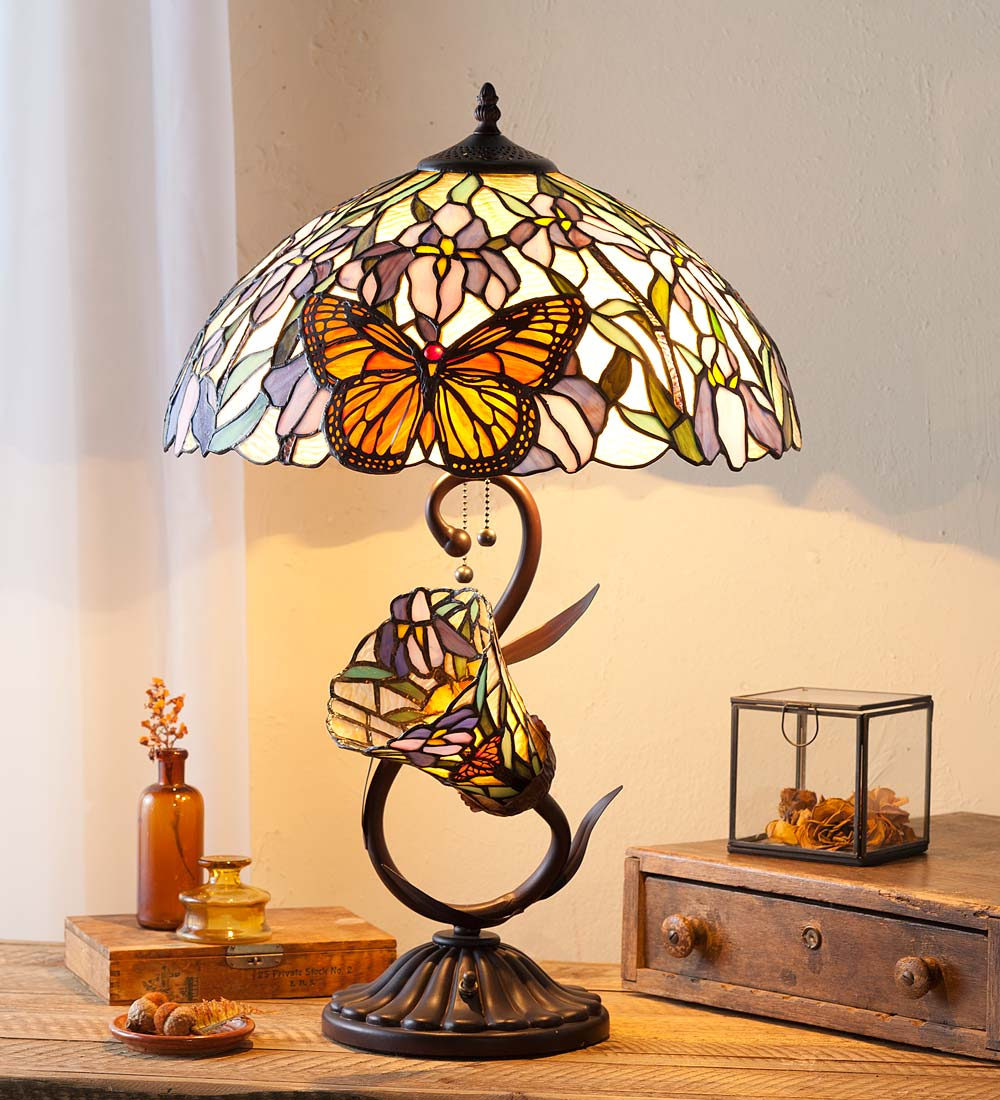 Stained Glass Butterfly Lamp Wind And Weather