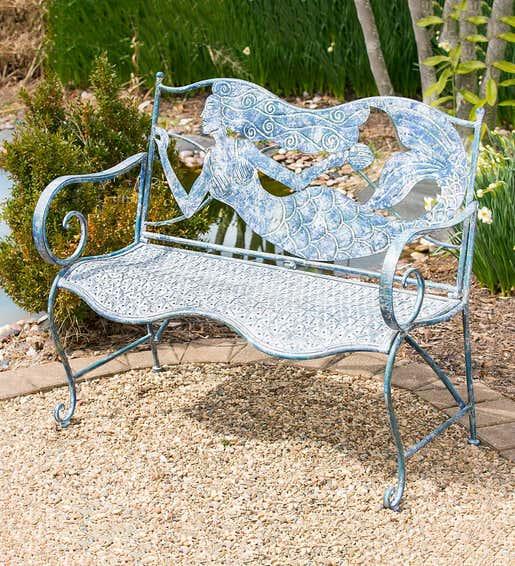 Mermaid Garden Bench - Shop Outdoor Furniture